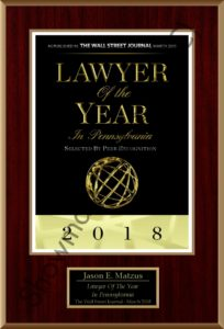 Jason Matzus Wall Street Journal Attorney of the Year Award 2018